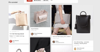 Screenshot from my Pinterest account, Tote bags of different designers, www.interest.com